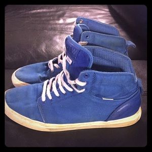 Vans high top blue shoes size 11 must go offer up!