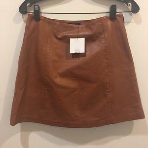 NWT Topshop Leather Mini Skirt