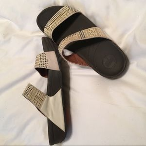 White Leather Fitflops - Size 9