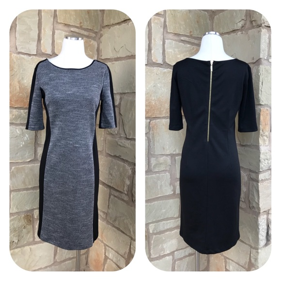 Dana Buchman Dresses & Skirts - Dana Buchman Colorblock Black Gray Knit Dress 2