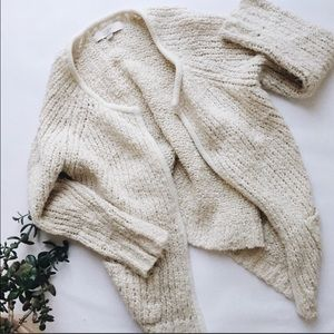 LOFT cream chunky sweater