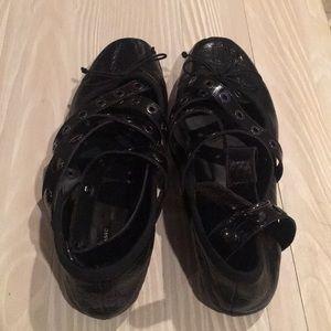 Zara black ballet flats