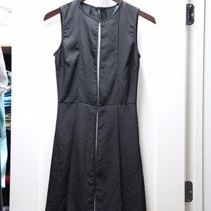Zara Black with Gray Shift Dress