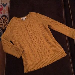Forever 21 mustard yellow sweater.