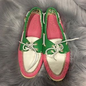 SPERRY TOP-SIDER PINK LEATHER BOAT LOAFER 8.5
