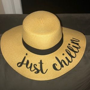 C.C. Just chillin embroidered floppy hat NWT