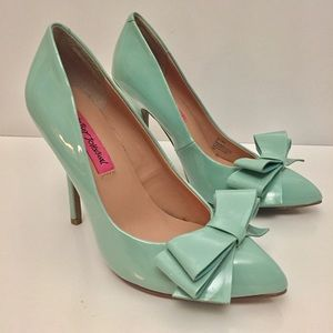 Now Available! BETSEY JOHNSON Tiffany Blue Heels