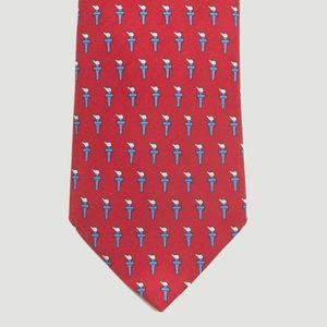 Vineyard Vines Liberty Torch Necktie in Red