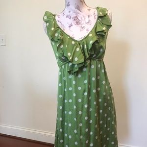 Polka dot green dress 🌈3 for 10