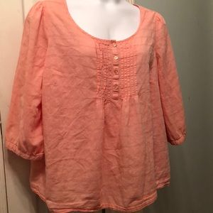 Basic Editions Peachy-Pink Top