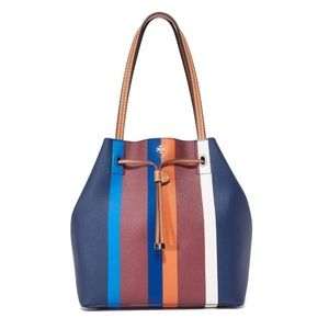 Tory Burch Kerrington Stripe Bucket Tote
