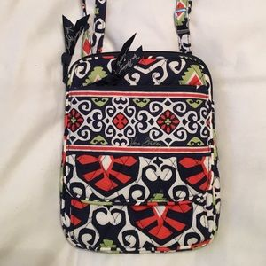 Vera Bradley Sun Valley Mini Hipster Crossbody Bag