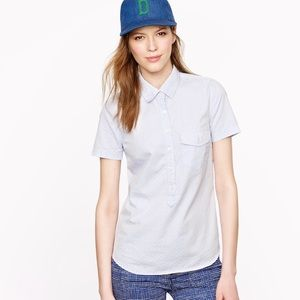 J.Crew Short-sleeve popover in oxford dot