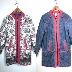 Free People Belario Quilted Reversible Zip Jacket