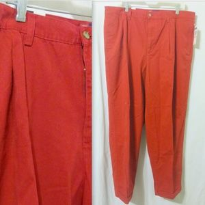CHAPS Ralph Lauren Red Cotton Chinos Pants