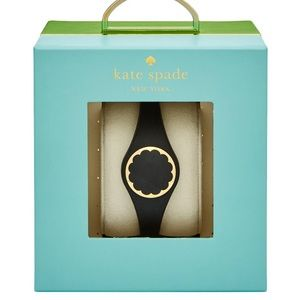 NIB Kate Spade Black Scalloped Activity Tracker