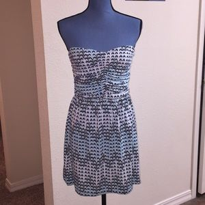 Charlotte Russe Chevron Strapless Mini Dress