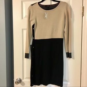 NWT The Limited colorblock sweater dress-as SP