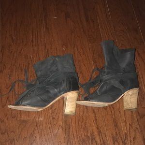 Free people open toe booties