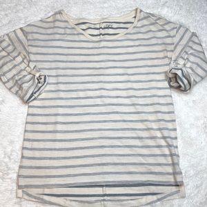 Striped 3/4 sleeve LOFT Top