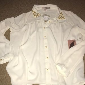 Forever 21 studded button down
