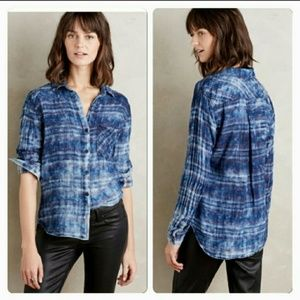 Anthropologie Cloth & Stone Rockland Button Down