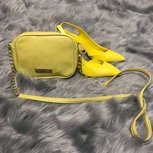 Yellow Steve madden cross body purse