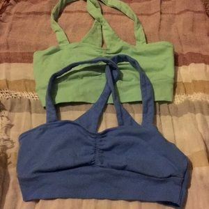 Lot of 2 Cotton Crossback Aerie Bralettes