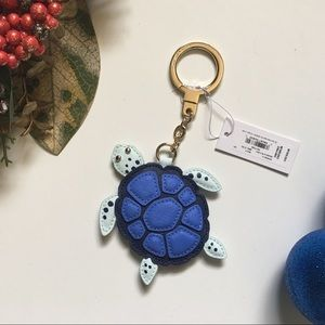 KATE SPADE UNDER THE SEA TURTLE KEY CHAIN LEATHER