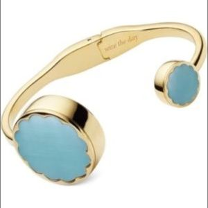NIB Kate Spade Gold Bangle Blue Activity Tracker