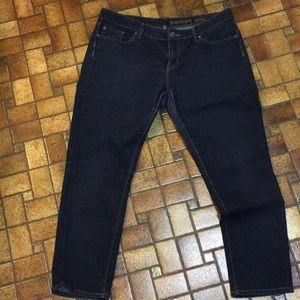 Gap 12/31s premium skinny jeans, dark wash