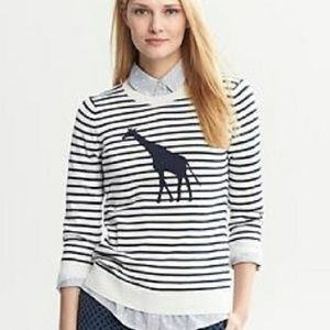 Banana Republic XS Giraffe Striped Crewneck