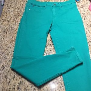 Green Size 6 Tall Gap Skinny Leggings  Jeans