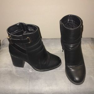 Black ankle boots by JustFab, size 6.5