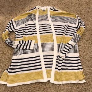 Knit open cardigan