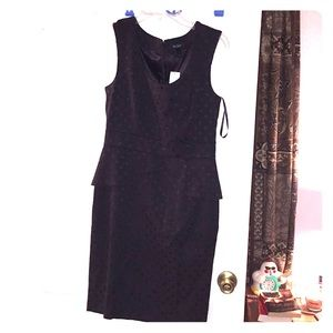 NWT WHBM White House Black Market 6 Peplum Dress