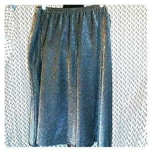 PLUS SIZE! Silver Sparkle Skirt
