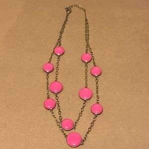 Pink Double Strand Beaded Bubble Necklace