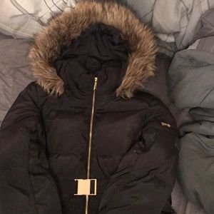 Michael Kors Black 3/4 Length Down Puffer Coat