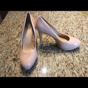 Size 11 Gianni Bini Nude Patent Leather Pumps/Heel