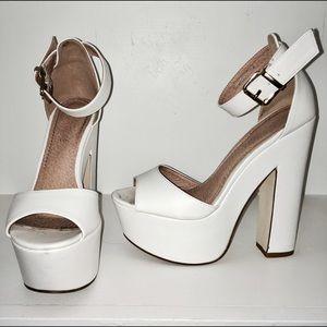White Platform Heels ✨
