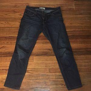 Free people roller crop dark denim jeans size 28