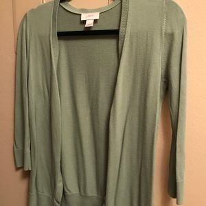 Light Olive Green 3/4 Sleeve Cardigan