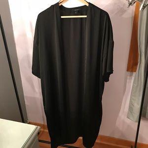 Forever 21 Black Longline Kimono Size M