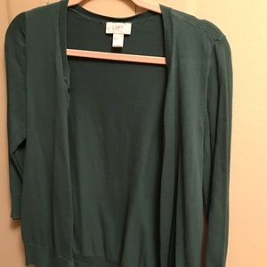 Hunter Green 3/4 Sleeve Cardigan