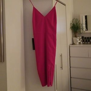 New Fuschia size 2 stretch cami dress