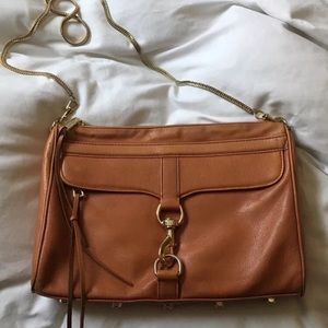 Rebecca Minkoff Tan Leather MAC Crossbody Bag