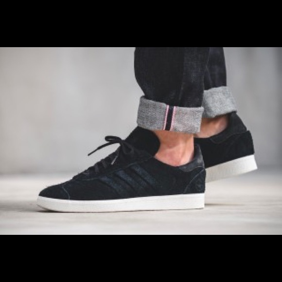 more photos 1923d 9993c adidas Other - Adidas x Wings + Horns Black Gazelle 85