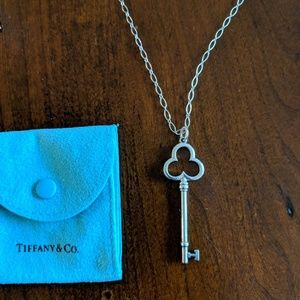 Tiffany & Co. Key Pendant and necklace