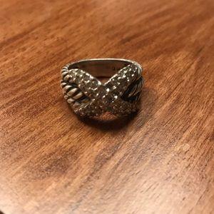 *RARE* David Yurman Tripple Row Pave Diamond Ring